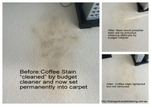 coffee stain on the carpet