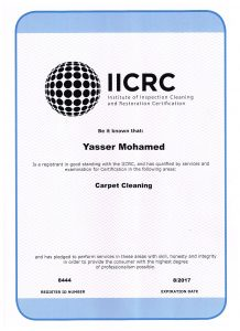 Accredited carpet cleaning