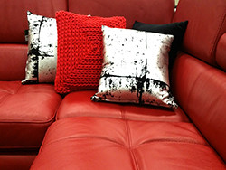 Red Leather loungecleaning Melbourne