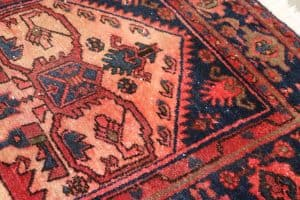 risk colour bleeds if steam clean a rug made of viscose rayon