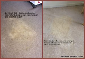 Steam Cleaning Melbourne Bleached carpet