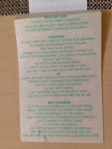 Couch cleaning Melbourne label
